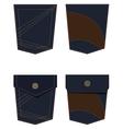 Back pocket set vector image
