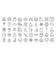 big set of halloween outline icon vector image