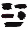 brush strokes set black paint inc brush stroke vector image