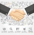 Business handshake Infographics option vector image