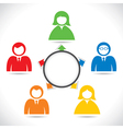 color business people in meeting vector image