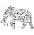 elephant with Indian patterns vector image