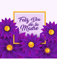 feliz dia de la madre happy mother s day in vector image