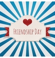 Friendship Day paper Emblem with Text and Heart vector image
