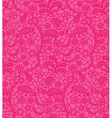 Pink lace fabric seamless pattern vector image