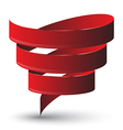 Red ribbon twist vector image