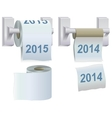 Toilet paper 2014 and 2015 vector image