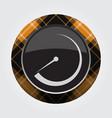 button with orange black tartan - dial symbol vector image