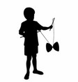 child shade with a diabolo vector image