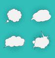 thoughts bubbles set pop art comics style vector image