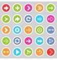 Flat arrow icons 5 vector image