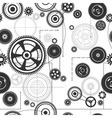 seamless gearwheel mechanism background vector image