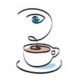 Cafe shop emblem sign icon vector image