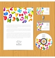 corporate identity template with vector image