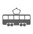 Tram sign on white vector image