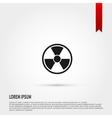 Radiation icon Danger concept Flat design s vector image