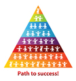 pyramid of success business vector image