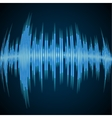 Blue sound wave vector image