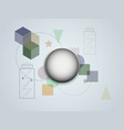 abstract background modern geometric futuristic vector image