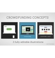 crowdfunding concepts set Online fund the vector image