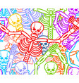 day of the dead seamless pattern multicolored vector image