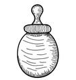 Hand drawn Baby Milk Bottle vector image