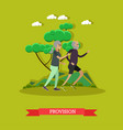 provision for the elderly concept vector image