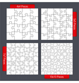 Puzzle Templates vector image