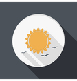 sun icon flat style with shadow vector image