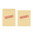 top secret envelope vector image