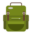 travel backpack icon flat style vector image