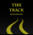 yellow warp tire track vector image