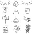 Doodle of thanksgiving set element vector image