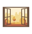 Autumn View of the Open Window vector image