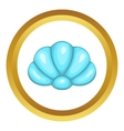 Scallop seashell icon vector image