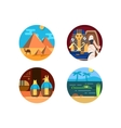 Travel to Egypt set of icons vector image