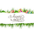 happy easter eggs background vector image
