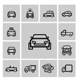 black auto icon set vector image vector image