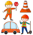 Flashcard of construction theme vector image vector image