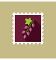 Currant flat stamp with long shadow vector image