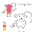 Coloring book monkey kids layout for game vector image