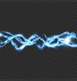 electric lighting transparent effect vector image