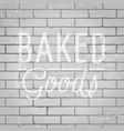 hand drawn lettering slogan on brick wall vector image