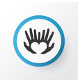 hands icon symbol premium quality isolated palms vector image