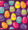 happy easter eggs seamless pattern vector image