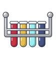 laboratory flask icon cartoon style vector image