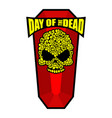 skull of flowers for day of the dead skeleton vector image