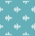 sound wave pattern seamless blue vector image