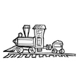 toy steam engine train vector image