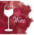 wine glass cup vintage image vector image